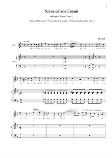 Ernani: Szena ed aria Ernani, Atto I by Giuseppe Verdi
