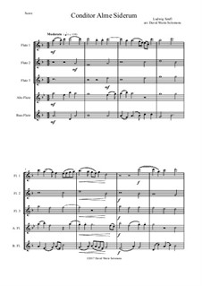 Conditor Alme Siderum (Creator of the stars of night): For flute quintet by Ludwig Senfl