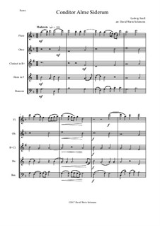 Conditor Alme Siderum (Creator of the stars of night): For wind quintet by Ludwig Senfl
