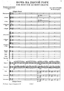 Night on Bald Mountain: Full score by Modest Mussorgsky