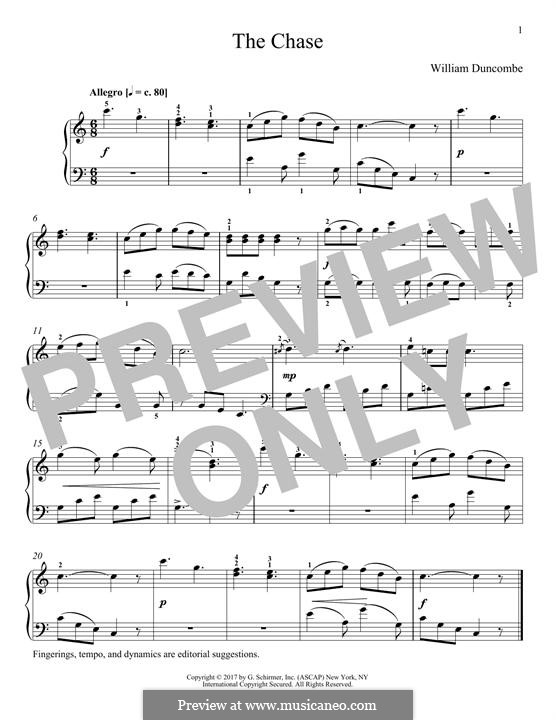 The Chase: For piano by William Duncombe