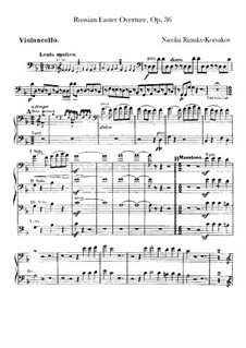 Russian Easter Festival Overture, Op.36: Cellos part by Nikolai Rimsky-Korsakov