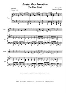 Easter Proclamation (The Risen Christ): Duet for soprano and alto saxophone by Georg Friedrich Händel, Ludwig van Beethoven, folklore
