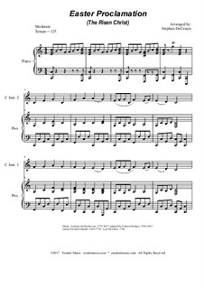 Easter Proclamation (The Risen Christ): Duet for C-instruments by Georg Friedrich Händel, Ludwig van Beethoven, folklore