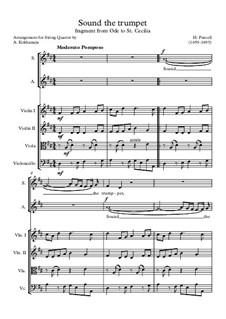 Ode to St. Cecilia, Z.328: Sound the trumpet by Henry Purcell