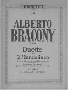 Duets for 2 mandolins, Part 2, Op.17: Duets for 2 mandolins, Part 2 by Georg Friedrich Händel, Felix Mendelssohn-Bartholdy, Ludwig van Beethoven, Pyotr Tchaikovsky, Friedrich Wilhelm Kücken, Ignaz Pleyel, Alberto Bracony