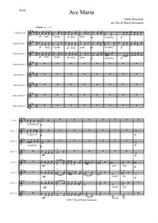 Ave Maria, WAB 6: For clarinet choir by Anton Bruckner