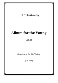 Complete Cycle: For woodwind quintet by Pyotr Tchaikovsky