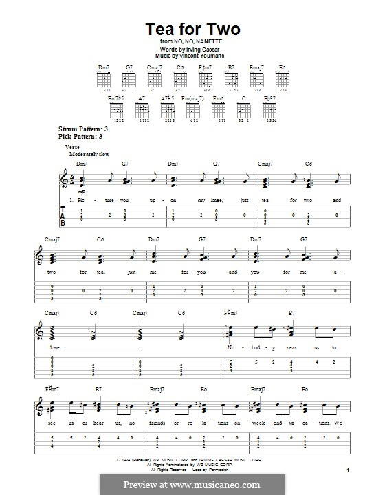 tea for two by v youmans sheet music on musicaneo. Black Bedroom Furniture Sets. Home Design Ideas