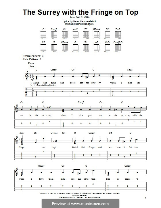 The Surrey with the Fringe on Top: For guitar with tab by Richard Rodgers