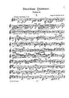 String Quintet No.2 in C Major, Op.16: Violin II part by Sergei Taneyev