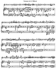 Sonata for Violin and Piano in G Minor 'Didone abbandonata': Score, solo part by Giuseppe Tartini