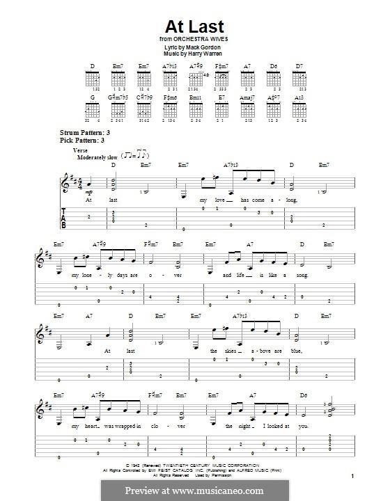 At Last (Etta James) by H. Warren - sheet music on MusicaNeo