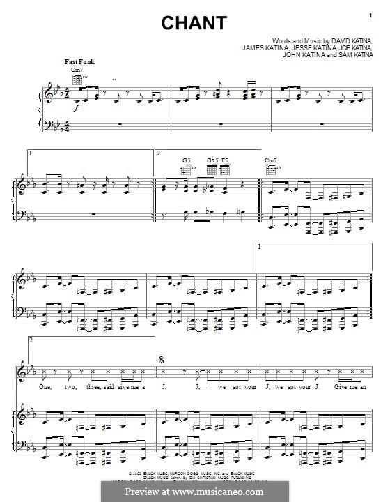 Chant (The Katinas): For voice and piano (or guitar) by David Katina, James Katina, Jesse Katina, Joe Katina, John Katina, Sam Katina