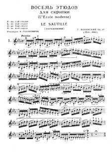 L'école moderne. Eight Etudes for Violin, Op.10: Complete set by Henryk Wieniawski