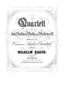 String Quartet in G Major: Violin II part by Wilhelm Bauck