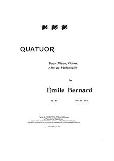 Piano Quartet in C Minor, Op.50: Cello Part by Émile Bernard