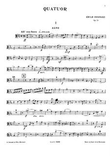 Piano Quartet in C Minor, Op.50: Viola Part by Émile Bernard