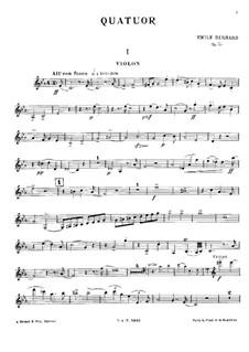 Piano Quartet in C Minor, Op.50: Violin Part by Émile Bernard