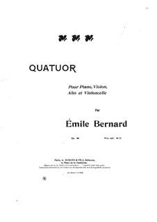 Piano Quartet in C Minor, Op.50: Full score by Émile Bernard