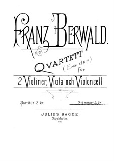 String Quartet No.3 in E Flat Major: Violin I part by Franz Berwald