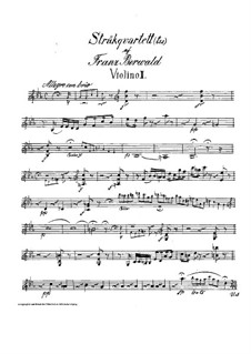 String Quartet No.3 in E Flat Major: Violin II part by Franz Berwald