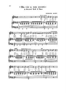 Ma vie a son secret (A Secret Tell I Thee): Ma vie a son secret (A Secret Tell I Thee) by Georges Bizet
