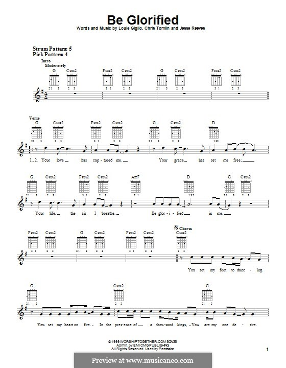 Be Glorified: For guitar with tab by Chris Tomlin, Jesse Reeves, Louie Giglio
