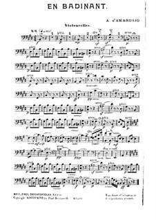 En Badinant: Cello part by Alfredo D'Ambrosio