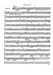 Sonata for Horn and Piano in E Minor, Op.44: Horn part by Franz Ignaz Danzi