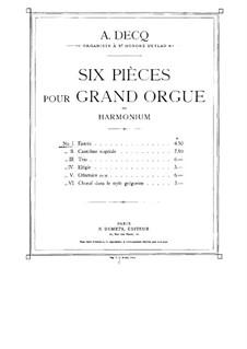 Six Pieces for Organ: No.1 Entrée by Adhemar Decq