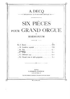 Six Pieces for Organ: No.3 Trio by Adhemar Decq