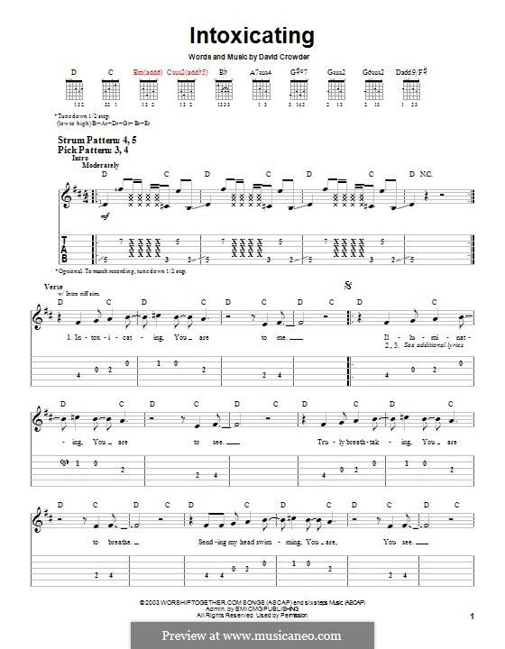 Intoxicating (David Crowder Band): For guitar with tab by David Crowder