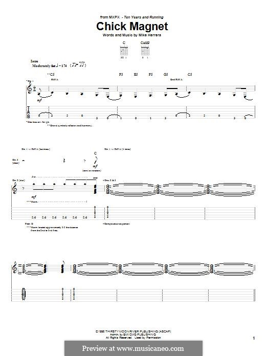 Chick Magnet (MxPx): For guitar with tab by Mike Herrera
