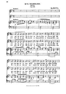 Six Songs, Op.63: Nr.5 Volkslied by Felix Mendelssohn-Bartholdy