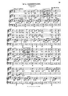 Six Songs, Op.63: Nr.4 Herbstlied by Felix Mendelssohn-Bartholdy