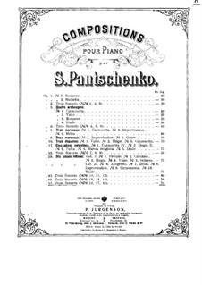 Three Sonnets, Op.51: Three Sonnets by Semën Panchenko