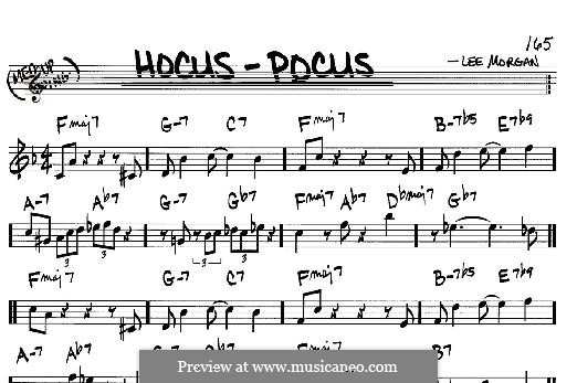 Hocus-Pocus: For any instrument by Lee Morgan