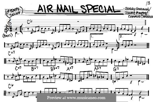 Air Mail Special (Benny Goodman & His Orchestra): For any instrument by Benny Goodman, Charlie Christian, Jimmy Mundy