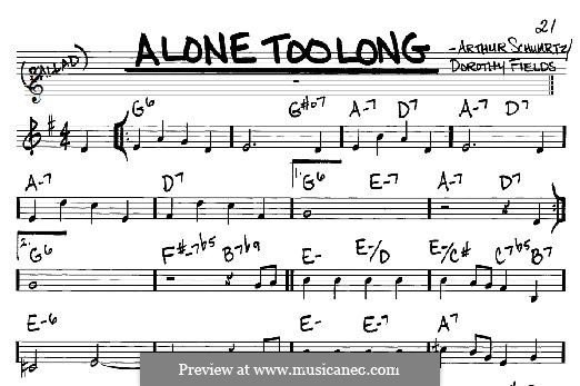 Alone Too Long: For any instrument by Arthur Schwartz