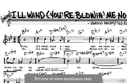 Ill Wind (You're Blowin' Me No Good): For any instrument by Harold Arlen
