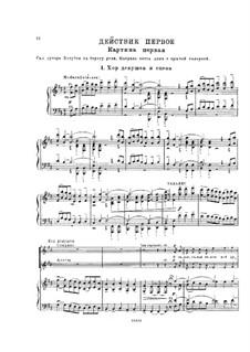 Mazepa, TH 7: Act I, No.1-6 – piano-vocal score by Pyotr Tchaikovsky