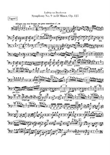 Complete Symphony: Bassoons parts by Ludwig van Beethoven