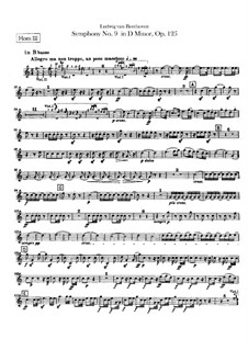 Complete Symphony: Horns III, IV parts by Ludwig van Beethoven