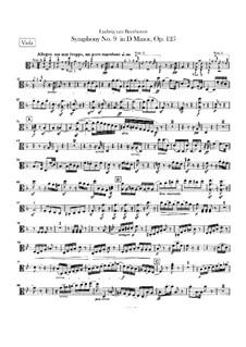 Complete Symphony: Violas parts by Ludwig van Beethoven