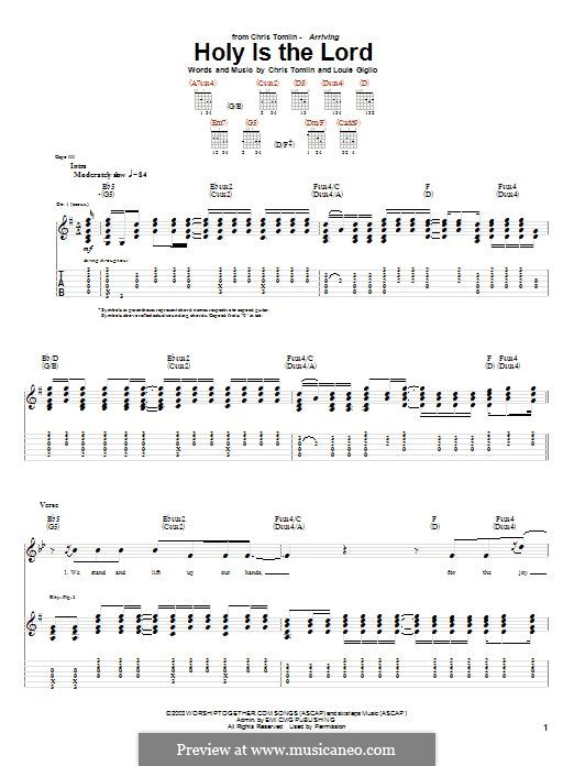 Holy is the Lord: For guitar with tab by Chris Tomlin, Louie Giglio
