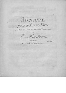 Sonata for French Horn and Piano, Op.17: Version for piano and violin (or flute, or cello) by Ludwig van Beethoven