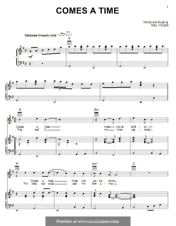 Comes a Time: For voice and piano (or guitar) by Neil Young