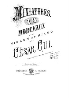 Seven Miniatures for Violin and Piano, Op.39: Score for two performers, Solo part by César Cui