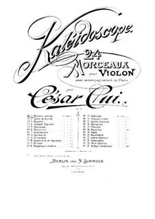 No.1 Moment intime: Score, solo part by César Cui